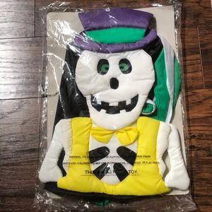 Vintage 80s 90s Halloween skeleton wind sock skull